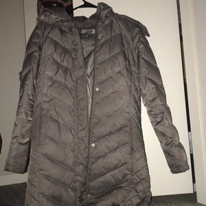 Kenneth Cole Puffer Parker Grey Winter Coat Size S